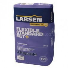 Flex Standard Set grey single part wall & floor adhesive 20 kg by Larsen