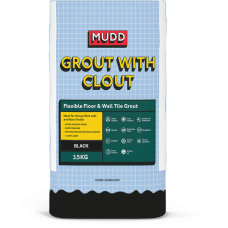 Mudd Grout With Clout black water resistant flexible tile grout 3.5kg - 37124 - CG2WA