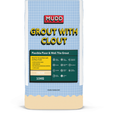 Mudd Grout With Clout cream water resistant flexible tile grout 3.5kg - 37118 - CG2WA