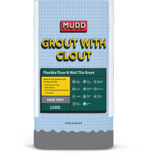 Mudd Grout With Clout dark grey water resistant flexible tile grout 3.5kg - 37120 - CG2WA