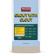 Mudd Grout With Clout limestone water resistant flexible tile grout 3.5kg - 37123 - CG2WA