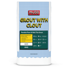 Mudd Grout With Clout white water resistant flexible tile grout 10kg - 37117 - CG2WA