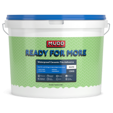 Mudd Ready For More white waterproof flexible tile adhesive 15kg - 37108 - D2TE