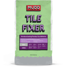 Mudd Tile Fixer grey water resistant flexible tile adhesive 20kg - 37109 - C2TE