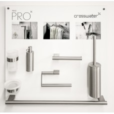 Crosswater Mike Pro Accessory Set Brushed Stainless Steel