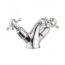 Belgravia Crosshead basin monobloc (without pop-up waste) by Crosswater Bathrooms