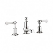 Belgravia Lever basin 3 hole set by Crosswater Bathrooms