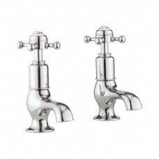 Belgravia Crosshead cloakroom basin taps by Crosswater Bathrooms