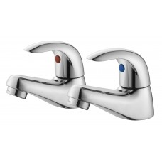 Essential Sunshine Pair Of Bath pillar Taps