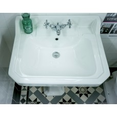 Tavistock Vitoria 605mm 1 Tap Hole Ceramic Basin and Full Pedestal