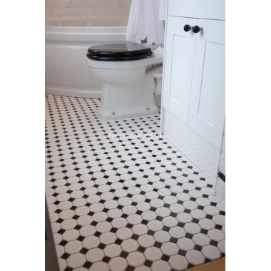 Victorian floor mosaics with Metro Bevel wall tiles