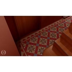 Virtual wall & floor tiles room settings