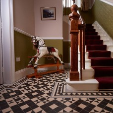 Braemar with Bronte victorian floor tile design