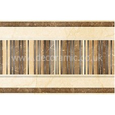 BCT03762 Elgin Marbles Crema Marfil and Marron Strip 248mm x 80mm