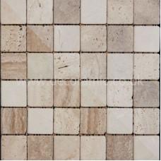 BCT10340 Mosaics Naturals Buxton Marble Beige Sheet 302mm x 302mm