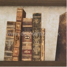 BCT38726 Englishman's Home West Wing Books Part A Wall 248mm x 498mm