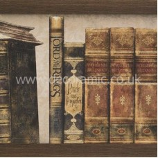 BCT38733 Englishman's Home West Wing Books Part B Wall 248mm x 498mm