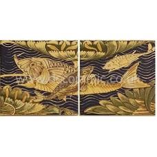 VA901024 V&A Fish Panel Set of 4 Wall 152mm x 152mm