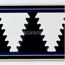 VA90117 V&A Owen Jones Cobalt and Black Border 152mm x 76mm