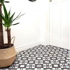 Feature Retro white, black matt ceramic tile BCT53606 331x331mm British Ceramic Tiles Feature Floors