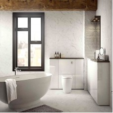 HD Laurel Marble white matt ceramic tile BCT47001 248x498mm British Ceramic Tiles HD