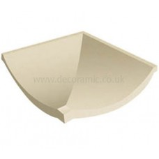 Slip resistant Channel Corner White tile 148 x 148 x 12 mm - DW-CRWHT1515 Dorset Woolliscroft