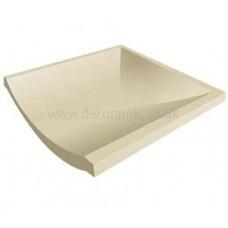 Slip resistant Channel Stop End White tile 148 x 148 x 12 mm - DW-CSWHT1515 Dorset Woolliscroft