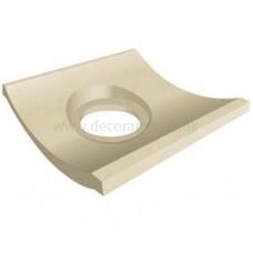 Slip resistant Channel Outlet White tile 148 x 148 x 12 mm - DW-CTWHT1515 Dorset Woolliscroft