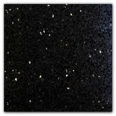 Starburst black quartz resin 15x15 cm