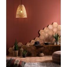 Handmade Terracotta 16cm Hexagon Natural Face EW-HT16HX 160x160mm Original Style