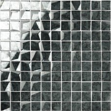 Original Style 24mm Facet Mosaic Mirror Glass tile GW-ANTGRSMOS 295x295mm Glassworks