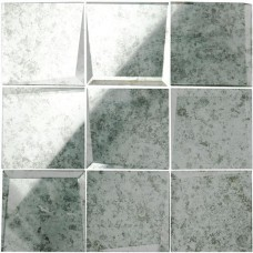 Original Style 100mm Facet Mosaic Mirror Glass tile GW-ANTWHLMOS 305x305mm Glassworks