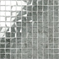 Original Style 24mm Facet Mosaic Mirror Glass tile GW-ANTWHSMOS 295x295mm Glassworks