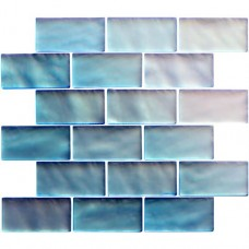 Original Style Blue Frost Mosaic Frosted Glass tile GW-RBLBBMOSF 315x305mm Glassworks