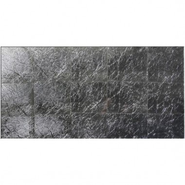 Original Style Silver Leaf Bold Metallic Glass tile GW-SFBLP6030 600x300mm Glassworks