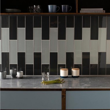 Original Style Triton Metallic Glass tile GW-TRT3010C 300x100mm Glassworks