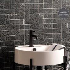 Alto Black Marble Patterned Mosaic Matt Honed Stone - EW-ALTBMOS - 305x305 Original Style