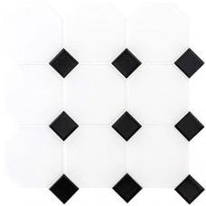 Classic Octagon and Dot Floor Mosaic CS-OCTDOTLG porcelain mosaic tile 295x295x6mm Original Style