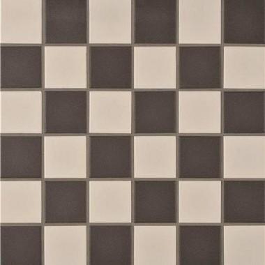 Porcelain Square White & Black CS-PORWBSQC porcelain mosaic tile 302x302mm Original Style