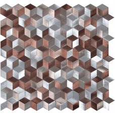 Astral Copper Aluminium Mosaic EW-ASTCPMOS metal mosaic tile 270x260x8mm Original Style