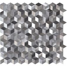 Astral Silver Aluminium Mosaic EW-ASTSLMOS metal mosaic tile 270x260x8mm Original Style