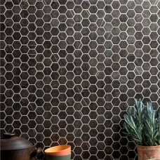 Burano Grey Hexagon Recycled Glass GW-BURHEXMOS glass mosaic tile 280x325x5mm Original Style