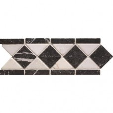Original Style Mosaics Athenian Diamond Black 300x100mm EW-ATHDIAB mosaic tile