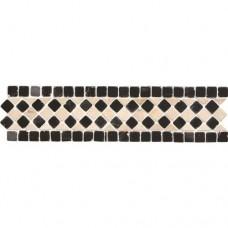 Original Style Mosaics Athenian Quadrant Black 300x70mm EW-ATQUADB mosaic tile