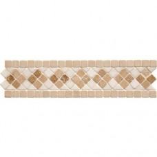 Original Style Mosaics Athenian Quadrant Travertine 300x70mm EW-ATQUADT mosaic tile