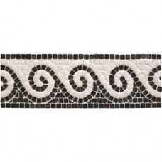 Original Style Mosaics Athenian Scroll Black 300x100mm EW-ATSCROLLB mosaic tile