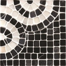 Original Style Mosaics Athenian Scroll Black Corner 100x100mm EW-ATSCROLLBC mosaic tile