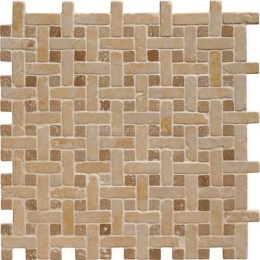 Original Style Mosaics Jerusalem Gold Basketweave 300x300mm EW-VMBJGOLD mosaic tile