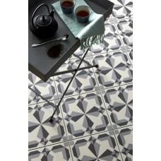 Odyssey Lewtrenchard Light Grey & Dark Grey on Chalk 8734 Porcelain tile Decorated 298x298mm Original Style