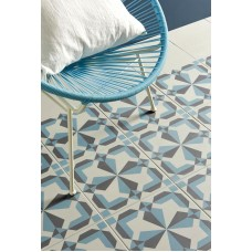 Odyssey Lewtrenchard Denim & Dark Grey on Grey 8735 Porcelain tile Decorated 298x298mm Original Style